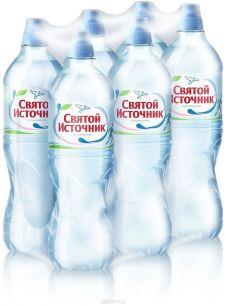 Доставка воды Святой источник, Спорт, негаз. 0,75 л, пэт (1 уп./6 бут.)