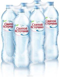 Доставка воды Святой источник, негаз. 1 л, пэт (1 уп./6 бут.)