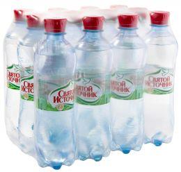 Доставка воды Святой источник, газ. 0,5 л, пэт (1 уп./12 бут.)