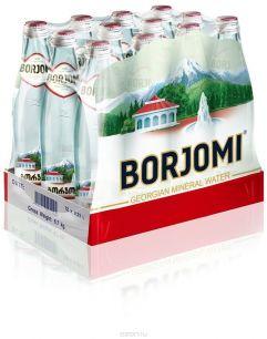 Доставка минеральной воды Боржоми, (0,33л/12шт.) стекло