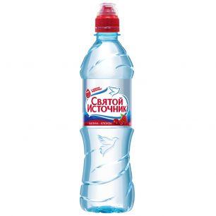 Доставка воды Святой источник, негаз.с соком малины 0,5 л, пэт (1 уп./12 бут.)