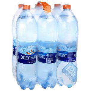 Доставка воды Эдельвейс газ. 1,5 л, пэт (1 уп./6 бут.)